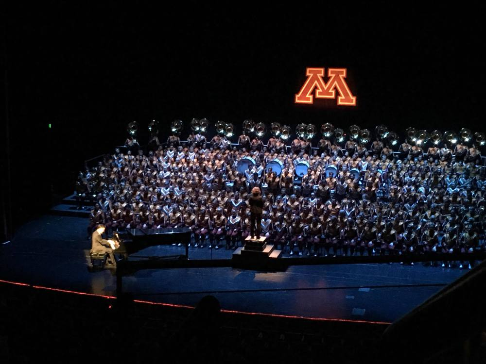 Marching Band University of Minnesota featuring Dr Michael Kim Playing Rhapsody in Blue