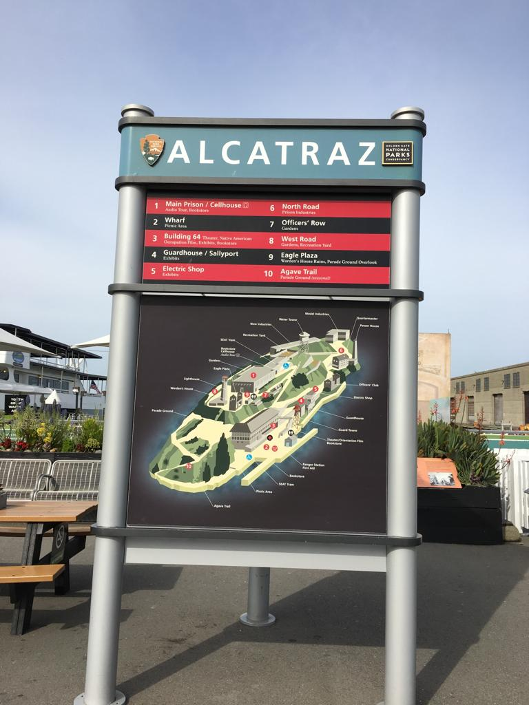 Alcatraz Information Board