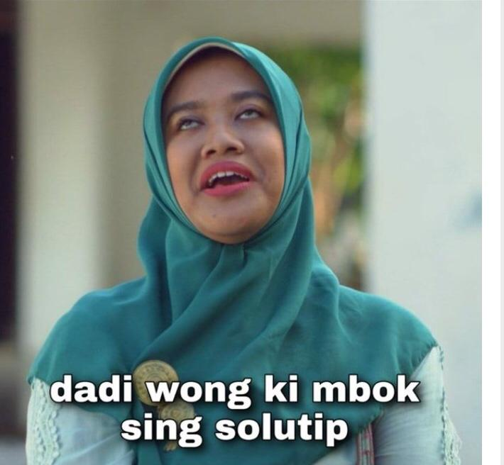 Bu Tejo: Dadi wong ki mbok sing solutip